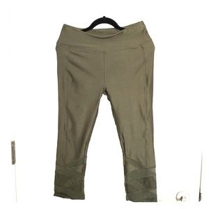 NWT Forever 21 olive workout capris yoga pant